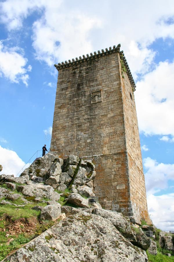 Watchtower made of stone located in Portugal. royalty free stock photos
