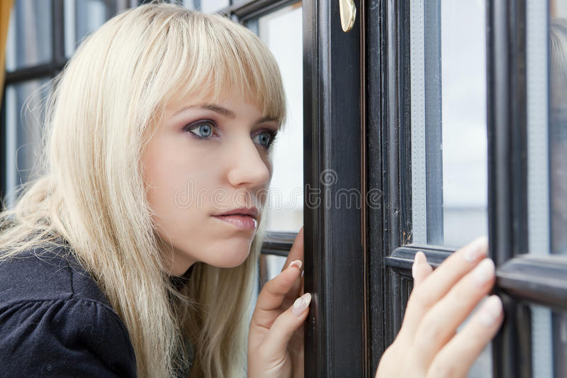 Download Looking through the window stock image. Image of waiting - 19499507