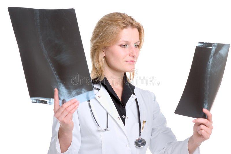 Looking At X-ray Royalty Free Stock Photography