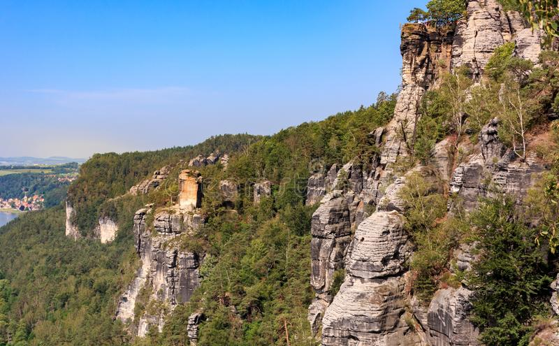 Lookout kanapee in the Elbe Sandstone Mountains. Germany royalty free stock photo