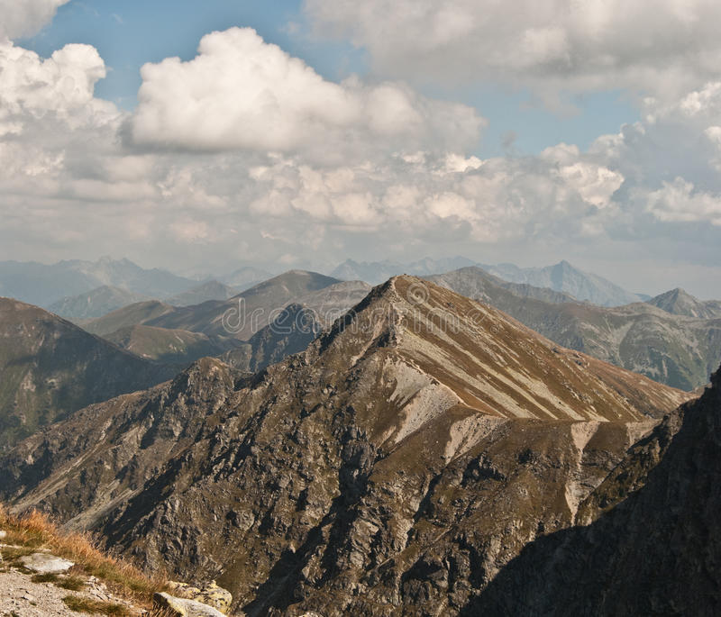 Lookout from Spalena peak in Rohace mountains stock photography