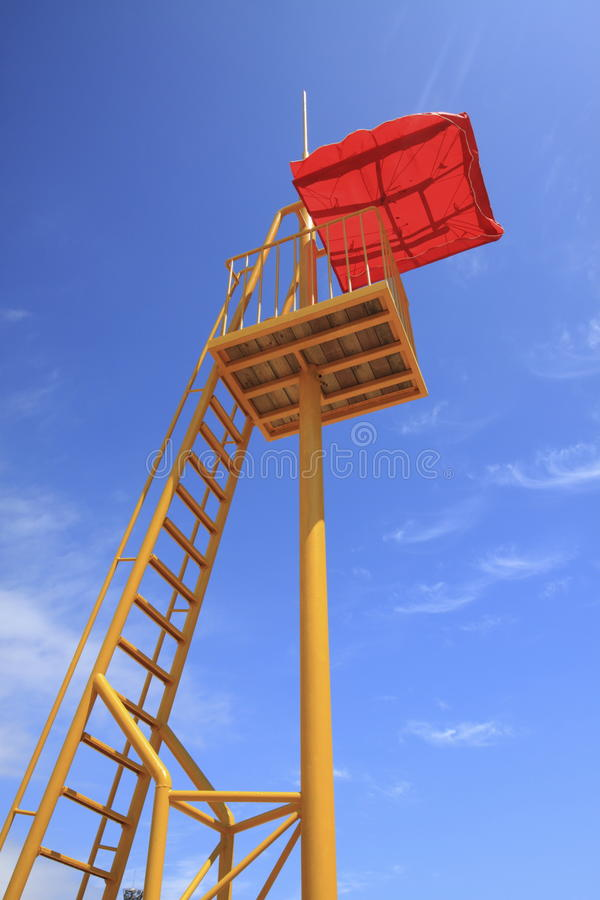 Download Lookout tower stock image. Image of ladder, tower, yellow - 26762547