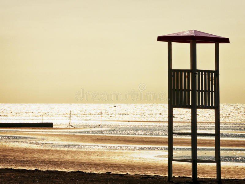 Download Lookout tower stock photo. Image of edge, brown, lifeguard - 34657000