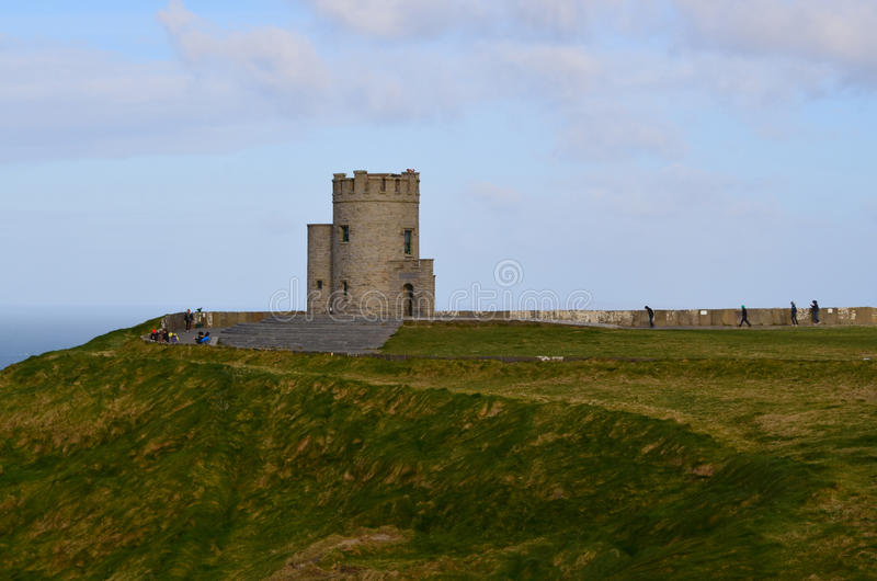 Lookout Tower on the Cliffs of Moher stock images