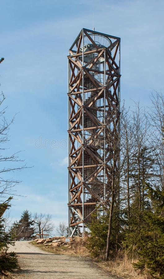Free Lookout Tower On `Pekelny Kopec` Infernal Hill Near The Town Trebic. Stock Photography - 89464652
