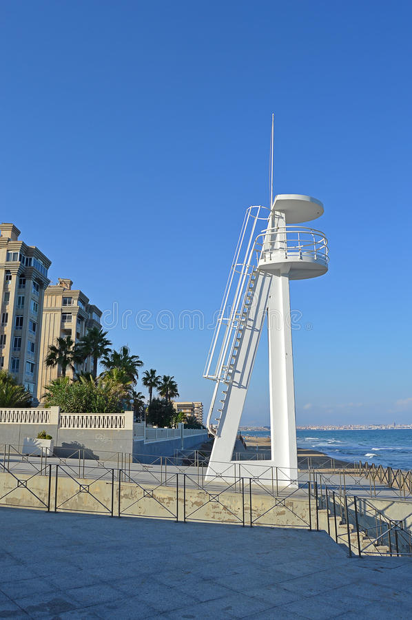 A Lookout Tower Used By The Lifeguards stock image