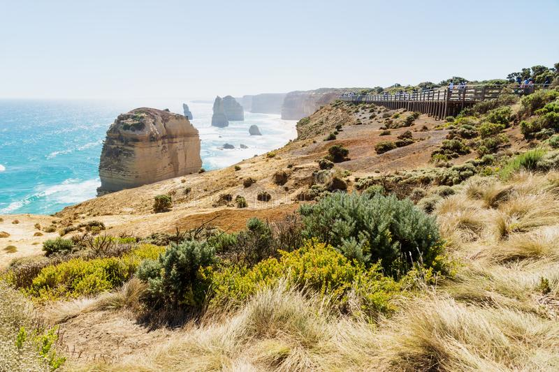 Lookout at Twelve Apostels at the Great Ocean Road, Victoria, Australia stock photos