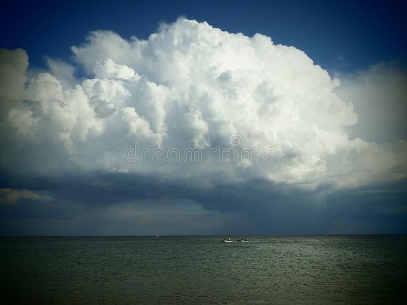 Stormy sky over Lagos in Portugal stock images