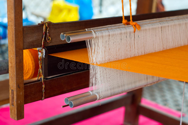 Loom. A Hand Loom used to weave cloth stock image