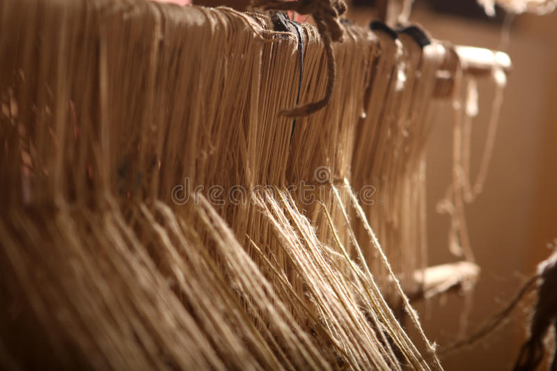 Loom. Classic asian loom at work royalty free stock photos