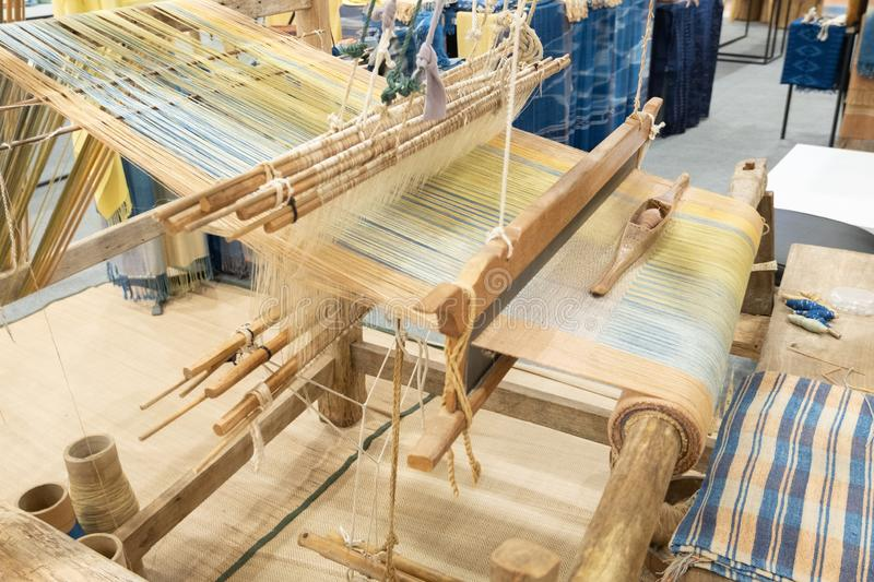 Loom. Weaving is a tool for weaving for various sewing materials stock photography
