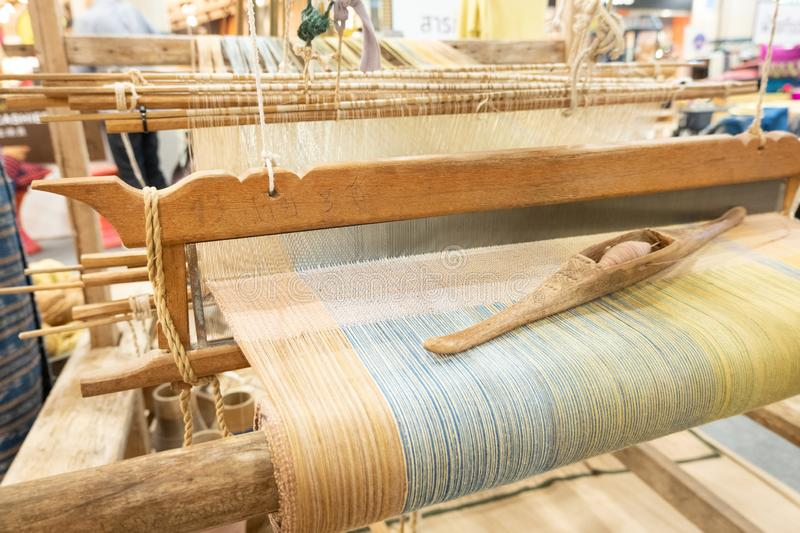 Loom. Weaving is a tool for weaving for various sewing materials royalty free stock photos