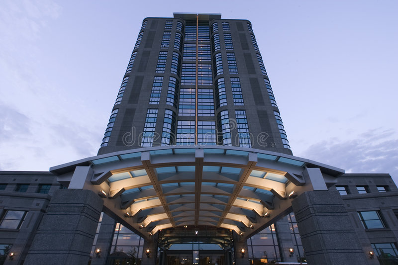 Download Looming Building stock image. Image of modern, imposing - 468931