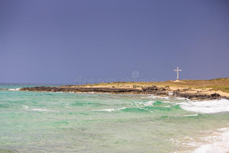 Looming storm at sea, autumn mood from Apulia stock photography