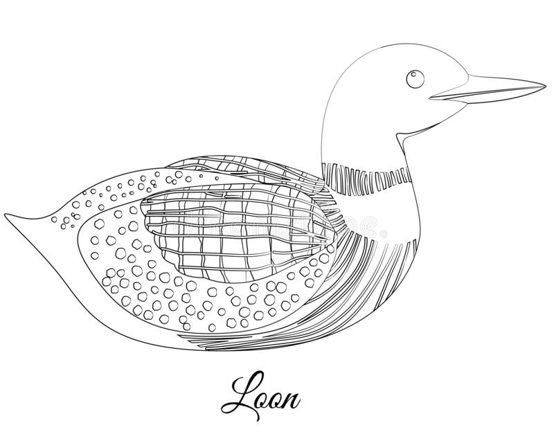 Loon Bird Coloring. Vector Image Stock Illustration ...