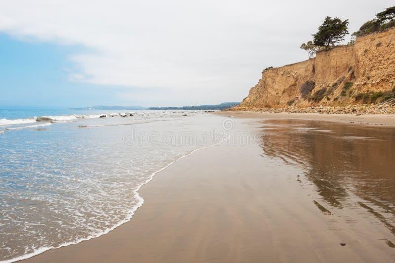 Loon punktu plaża fotografia royalty free