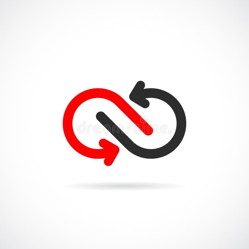Loop arrows vector logo design vector illustration