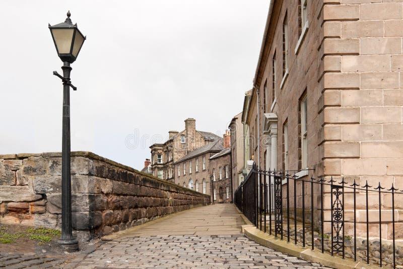 Loop de Muren in Berwick op Tweed stock afbeeldingen