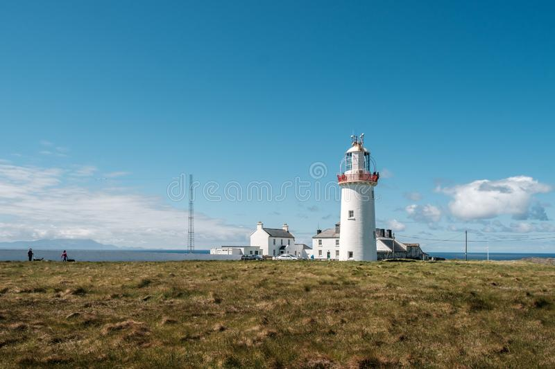 Loop Head lighthouse in County Clare in Ireland royalty free stock images