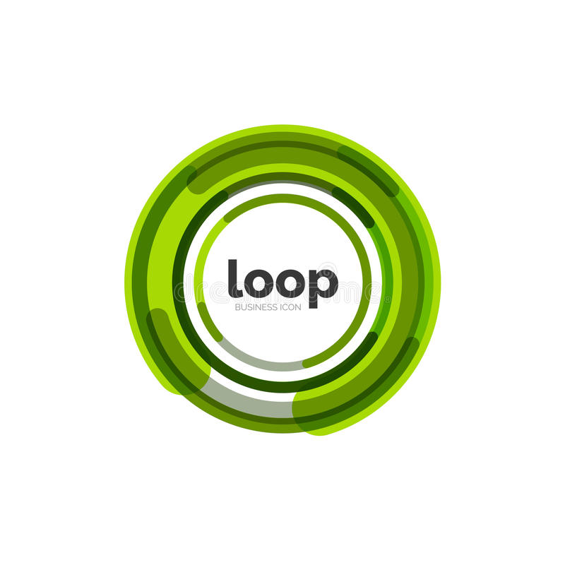 Loop, infinity business icon royalty free illustration