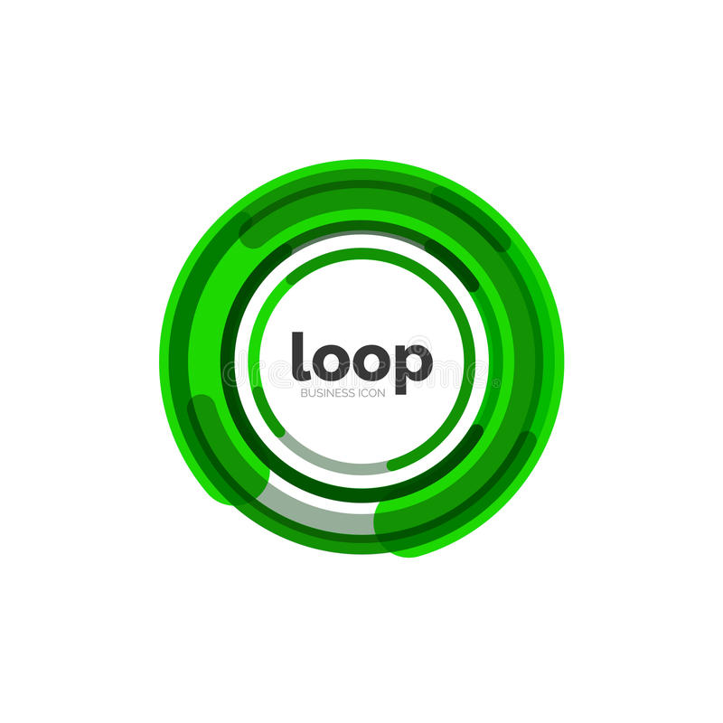 Loop, infinity business icon. Logo abstract design vector illustration