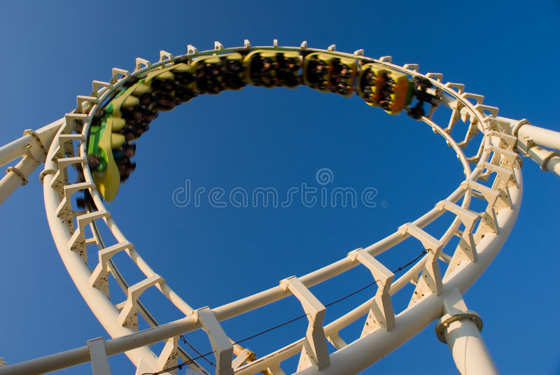 Download Loop Rollercoaster (inverted) Stock Image - Image: 5833455