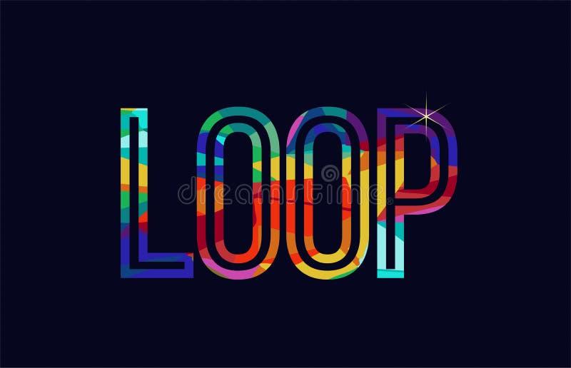 loop word typography design in rainbow colors logo royalty free illustration