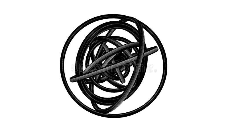 Loopable-Schwarz-Draht-Rahmen-Kreis-Zusammenfassung Auf Weißem ...