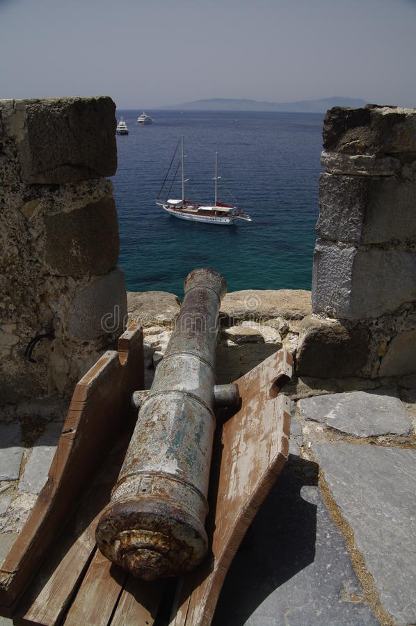Loophole At Bodrum Castle, Turkey Royalty Free Stock Photos