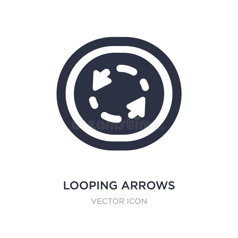 looping arrows with broken line icon on white background. Simple element illustration from UI concept stock illustration