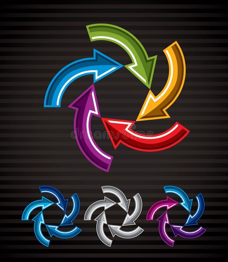 Looping arrows vector abstract symbol, conceptual special made i vector illustration