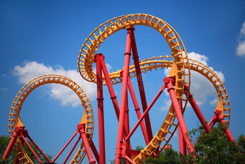 Looping Roller Coaster royalty free stock photos