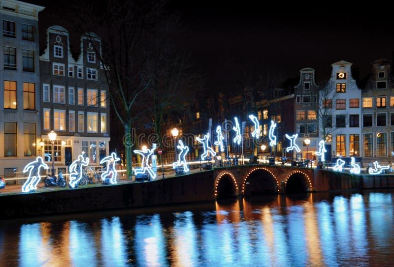 Looppas verder in Amsterdam, Nederland stock fotografie