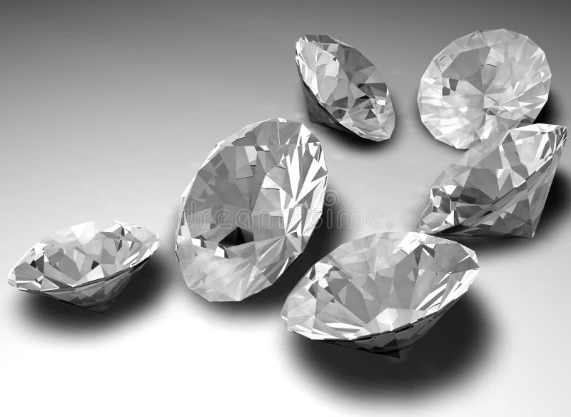 Loose diamonds stock illustration