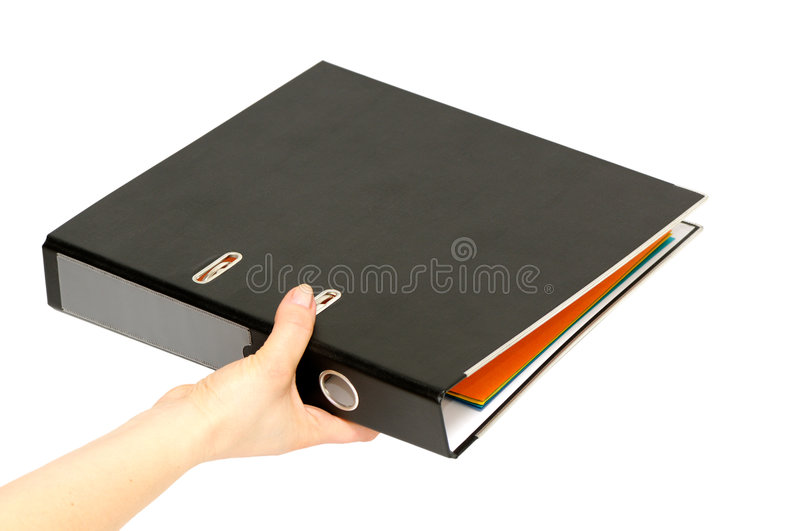 Download Loose-leaf binder stock image. Image of isolated, data - 5684459