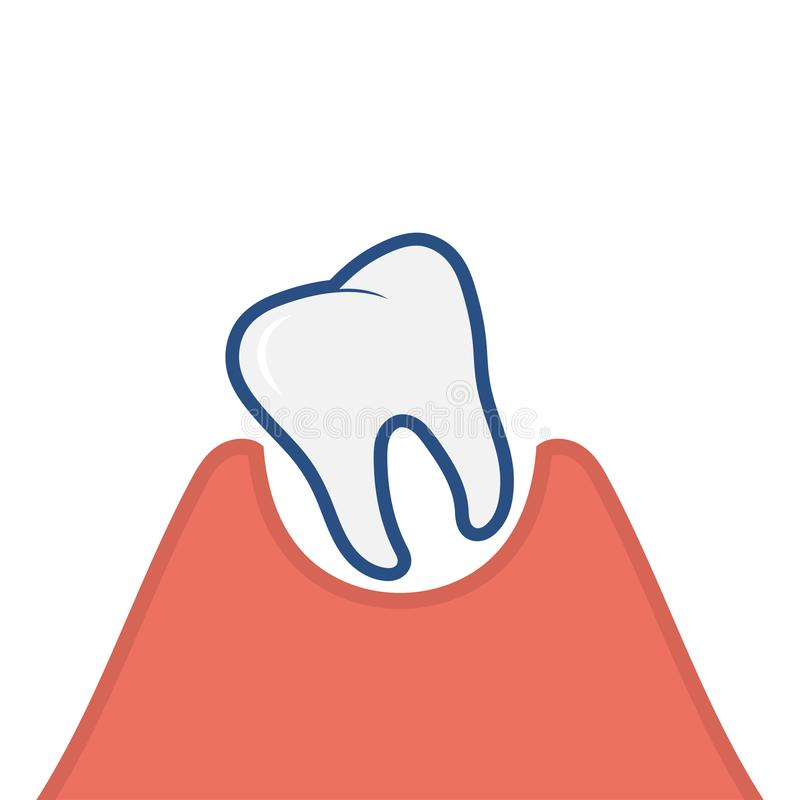 Loose tooth icon. Vector Illustration isolated on white background vector illustration