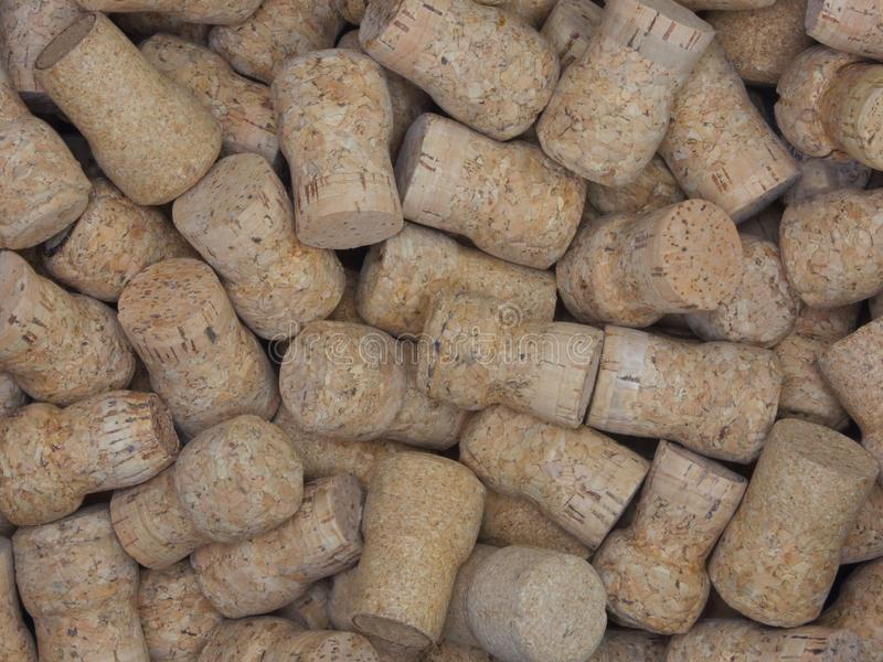 Loosely Stacked Pile of Many Natural Champagne or Sparkling Wine stock photo