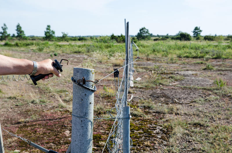 Download Loosen electric fence stock photo. Image of country, danger - 33428234