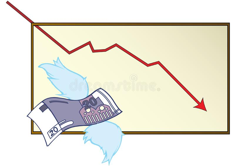 Loosing money stock photo