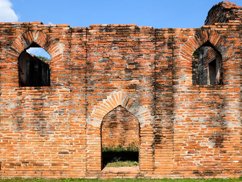 Lopburi-Dec 30 :King Narai's Palace on Dec 30,2015 In Muang Lopb. Uri,Thailand. The Palace was built by King Narai, the king who ruled Ayutthaya from 1656 to royalty free stock photos
