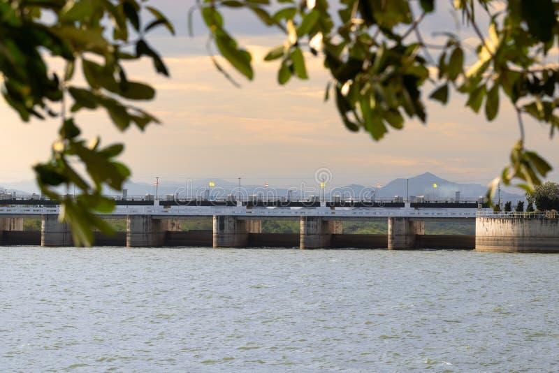 Lopburi ,Thailand - December 16 , 2018 : Pa Sak Jolasid Dam in Lopburi in morning royalty free stock photos