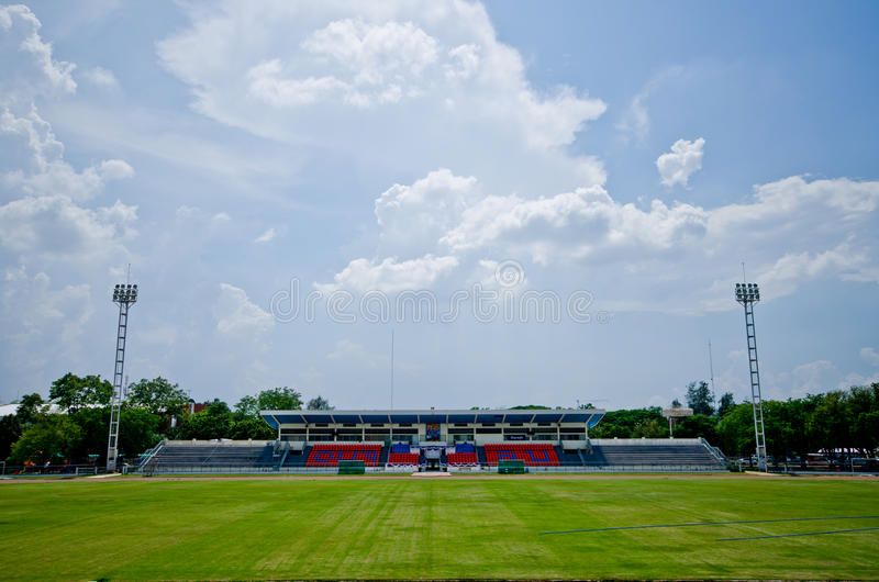 Lopburistadion Thailand van het voetbalgebied stock afbeelding
