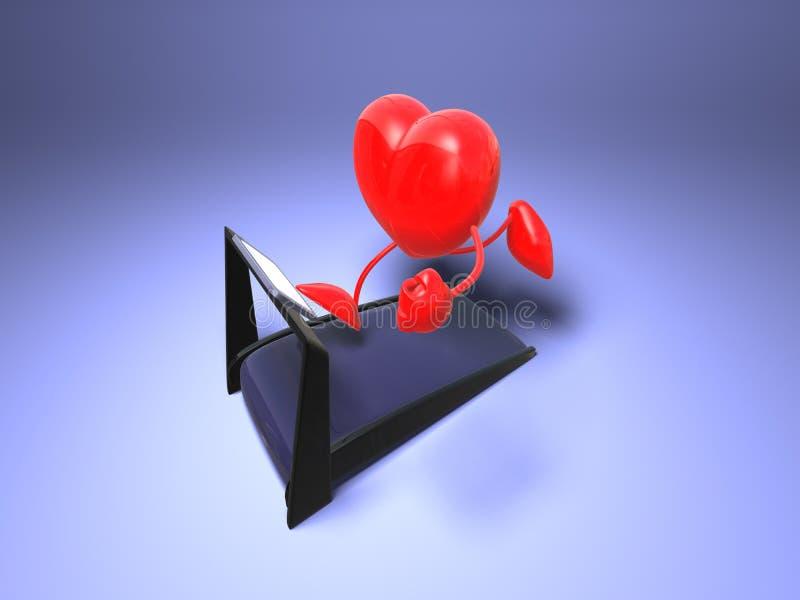 Lopend hart vector illustratie