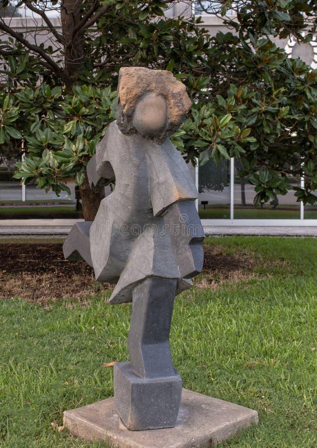 ` Lopend Meisje ` door Dominic Benhura, Hall Park, Frisco, Texas royalty-vrije stock afbeeldingen