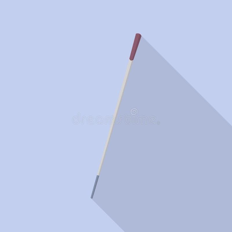 Lopend rietpictogram, vlakke stijl vector illustratie