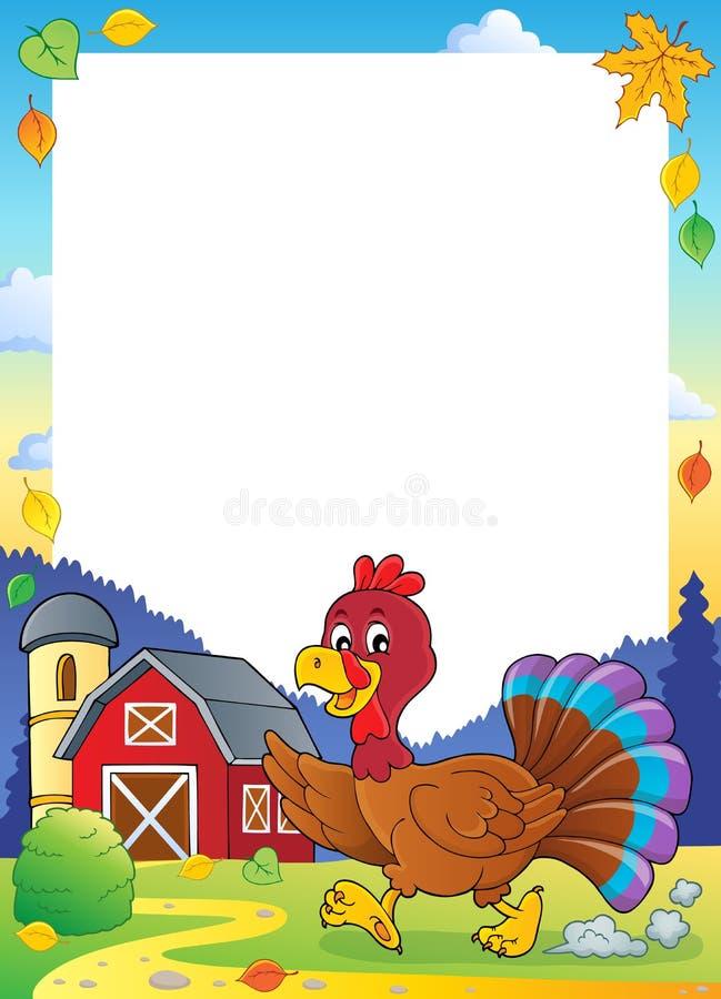Lopend van het de vogelthema van Turkije kader 1 vector illustratie