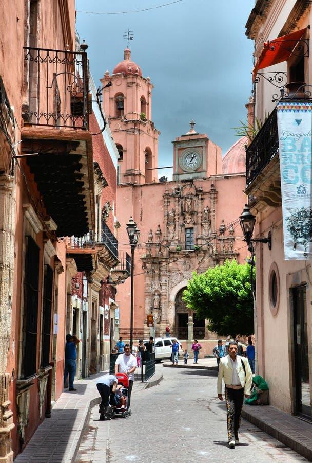 Lopende Guanajuato-Stad royalty-vrije stock afbeelding