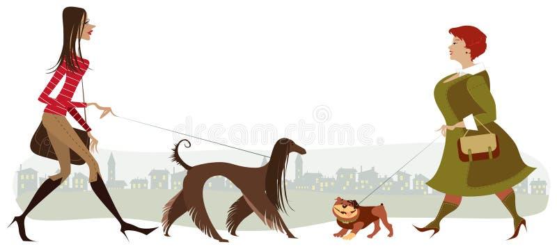 Lopende honden royalty-vrije illustratie