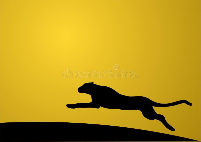 Lopende jaguar stock illustratie