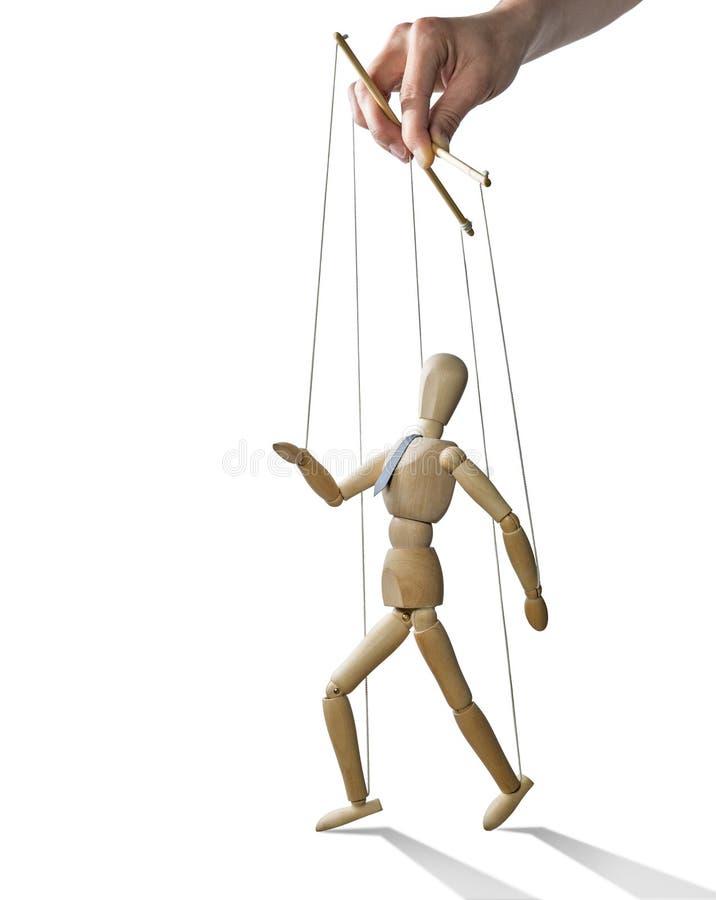 Lopende marionet, royalty-vrije stock afbeelding